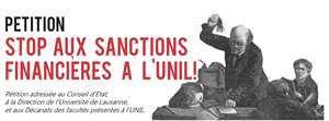 Pétition : STOP aux sanctions financières à l'UNIL!