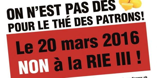 NON à la RIE III : le site de campagne est lancé !