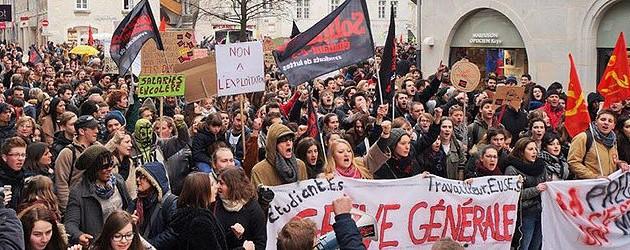 Soutien au mouvement étudiant et social en France contre la « Loi Travail »
