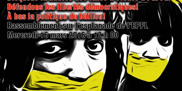 L'EPFL interdit la manifestation contre la hausse des taxes d'études : défendons les libertés démocratiques et le droit de manifestation !