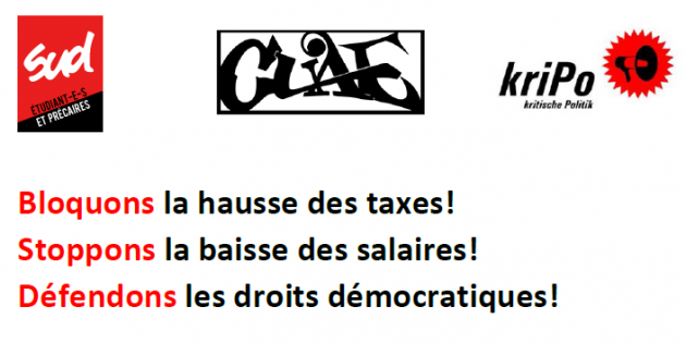 Communiqué commun SUD-EP, CUAE, Kripo