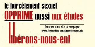 Le harcèlement sexuel opprime aussi aux études, libérons-nous-en!