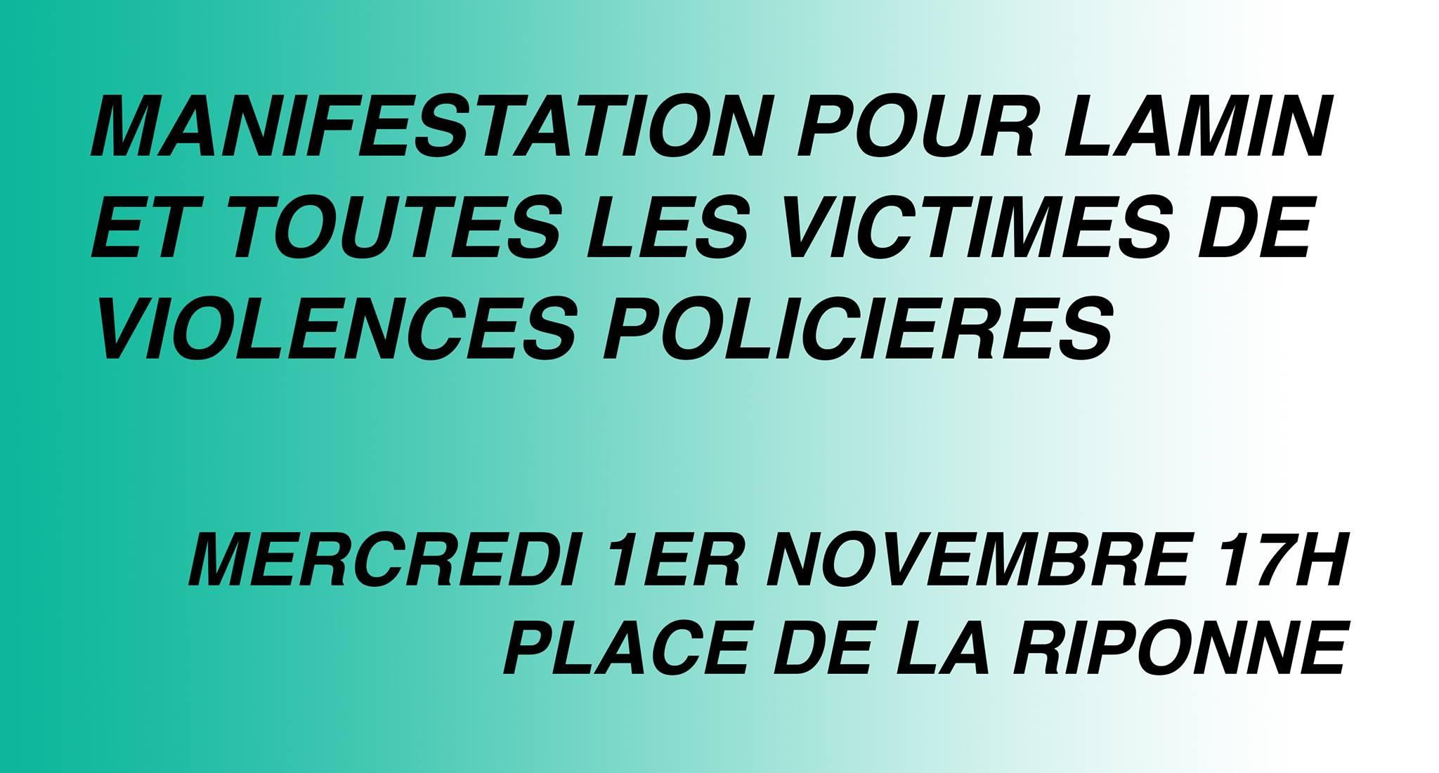 Justice pour Lamin ! Manifestation ce mercredi 1er novembre