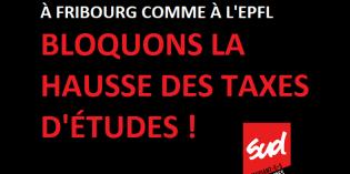 Communiqué : solidarité avec les étudiant-e-s de Fribourg !
