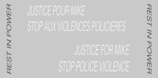 Rassemblement pour Mike // contre les violences policières