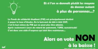 Référendum UNIL : nos soutiens