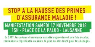 Manifestation – STOP à la hausse des primes d'assurance-maladie!