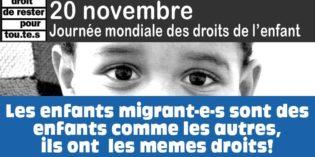 Manif pour les droits des enfants migrant-e-s