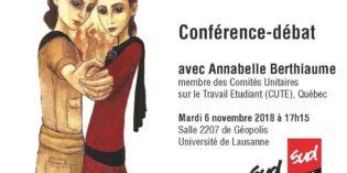 Conférence: la grève des stages est une grève des femmes