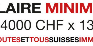 Salaire minimum 4000 CHF x 13 !